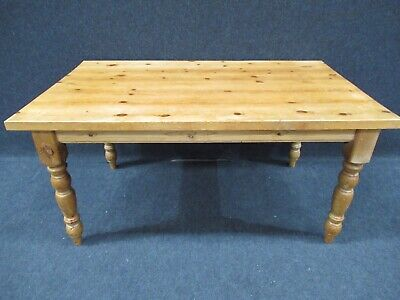 Antique Pine Butchers Block Farmhouse Table Pine Kitchen Table Chunky Pine Table