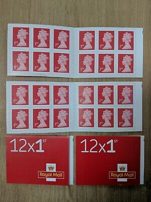 48 Royal Mail 1st Class letter Stamps 4 Books Of 12 New