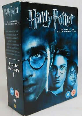 HARRY POTTER The Complete 8 Film Collection - 8-Disc DVD Box Set 2011