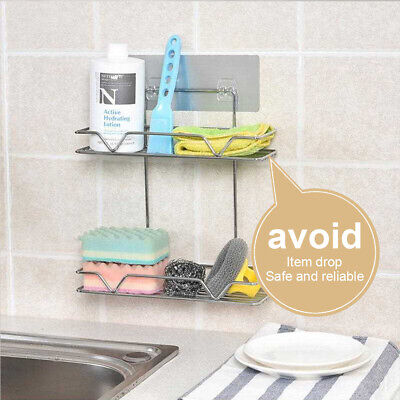 Stainless Steel Kitchen Shower Storage Rack Shelf Wall Mounted Organizer ILJ