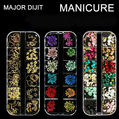 Mixed Dried Flowers 3D Nail Art DIY Bottle Decoration Flower Manicure Tips DIY