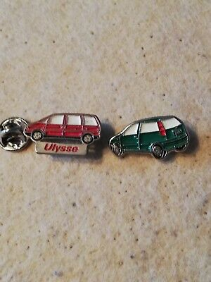 2 Pin's Pins voiture cars auto Fiat Ulysse Punto
