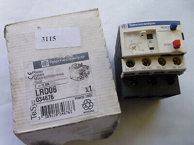 LRD06 telemecanique relai thermique thermal overload 1 -  1,6 A TeSys 034676