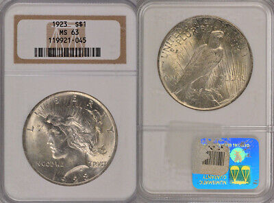 1923 Ngc Ms63 Silver Uncirculated Peace Dollar Coin !!! Lovely !!