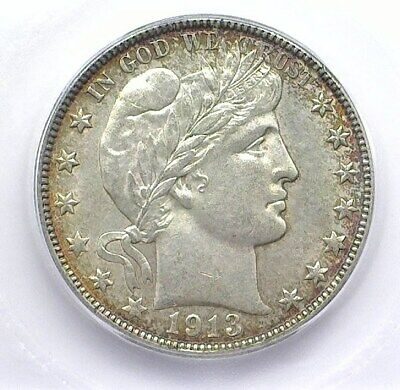 1913-D Barber Silver 50 Cents Icg Ms-60 Better Date! Lists For $600