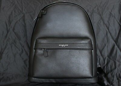 229a78dc90cdd7 Michael Kors Mens / Unisex Russel Pebbled Leather Backpack Book Bag Campus  Bag