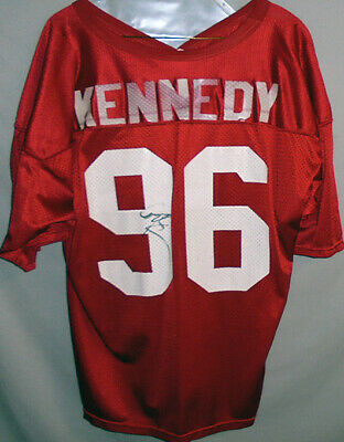 best sneakers 304bd e0435 1990'S -CORTEZ KENNEDY- Seattle Seahawks Autograph Game Used NFL Football  Jersey