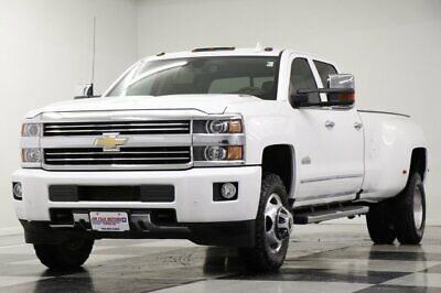 2016 Silverado 3500 HD High Country 4X4 Crew 5.7L Summit White DRW Used 3500HD Navigation Heated Cooled Leather Duramax One Owner 4WD 15 2015 16 V8
