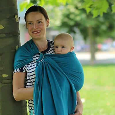Beco Ring Sling Baby Carrier Ocean - Natural Wrap for Baby from Birth to Toddler