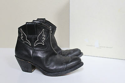 60df1fc4f8b95 NIB sz 6   36 Golden Goose Deluxe Brand A2 Black Leather Riding Ankle Boots  Shoe