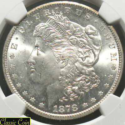 1878-CC Morgan Silver Dollar $1 NGC MS64 90% Silver First Year Nice Coin