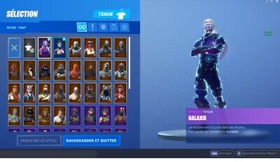 RAFFLE account fornite with galaxy skin and lots of skin RAFFLE