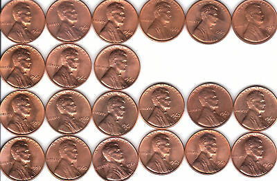 1959 to 2019PD  +68-74S  ~  5 Complete  Uncirculated  132 coin Lincoln Cent Sets