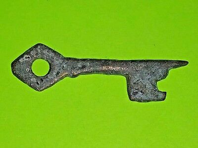 Medieval Key 1100-1400 AD genuine antique tool for lock treasure box VG chest