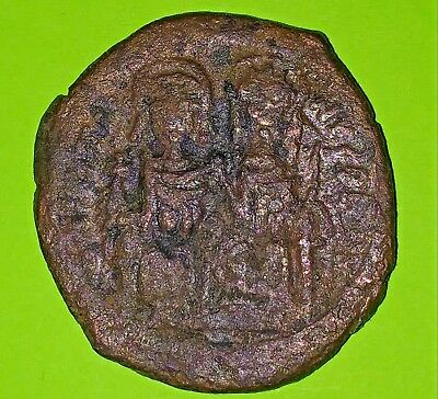 Justin II 527 AD huge ancient Byzantine Coin 29mm Queen Sophia VG Christian old