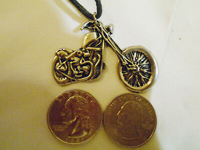 bling pewter bike biker motorcycle road hog pendant charm chain hip hop necklace