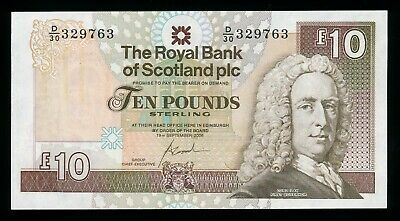 The Royal Bank of Scotland 10 Pounds 2006 P. 353 /353b UNC Note