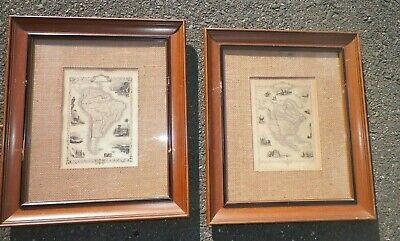 2 vintage framed maps London JohnTallis &  Marchant & Rodgers