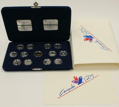 1992 Canada 13 coins 125th Anniversary Proof Quarter Set Sterling Silver 25 Cent