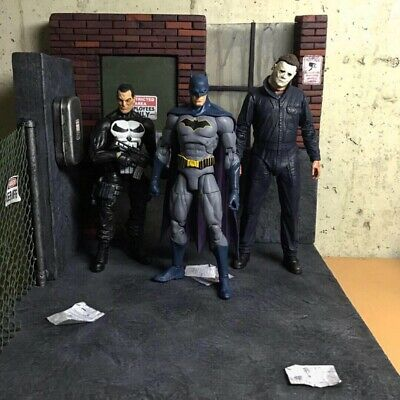 1/12 SCALE MARVEL Legends Action Figure Diorama (Back Alley Way)