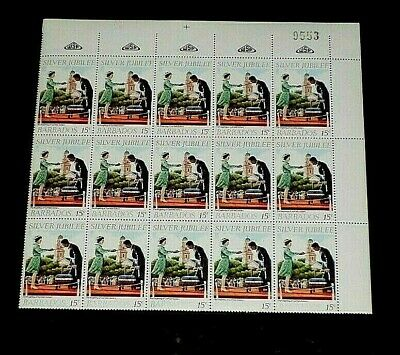Barbados #467-469, 1977, Royal Visit, Mnh, Set/3 Partial Sheets/15, Nice! Look!