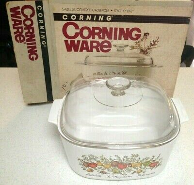 Corning Ware Spice of Life 5 Quart Casserole/Roaster/Dutch Oven w/ Domed Lid