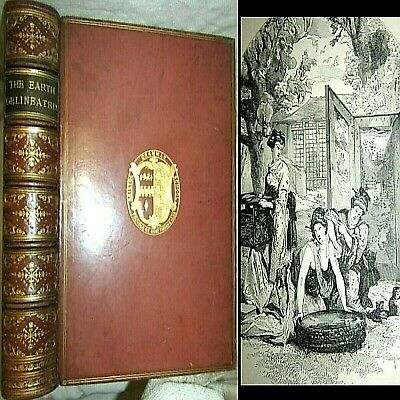 1872 Earth Delineated 1St Edition 200 Ills Dore Middle East China Japan Cuba U.s