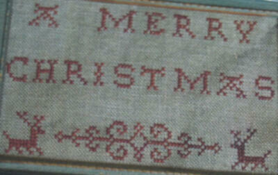 Pineberry Lane - A Merry Christmas Redwork Sampler