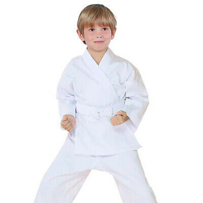 65//35 POLY COTTON WITH WHITE BELT A BORN FIGHTER KARATE UNIFORMS OSPREY INTL