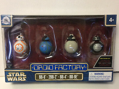 Disney Parks Star Wars The Last Jedi Droid Factory 4 Pack BB-8 2BB-2 BB-4 BB-9E
