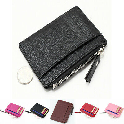 AU Women Girls Mini PU Leather Wallet Card Holder Coin Penny Purse Bag Clutch