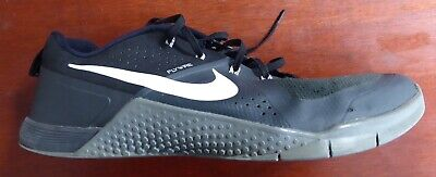 innovative design d0118 dbbd7 Mens Nike Metcon 1 Flywire Athletic Shoes Size 14 Black Gray White 704688  001