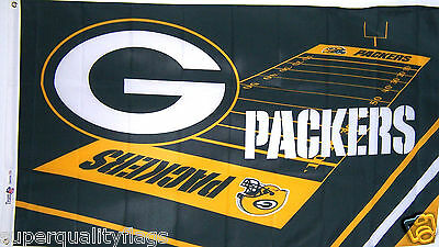 NEW 3x5ft GREEN BAY PACKERS FIELD DESIGN Genuine NFL Licensed High Quality Flag
