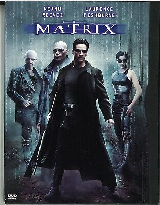 The Matrix with Keanu Reeves and Laurence Fishburne  (DVD, 1999)