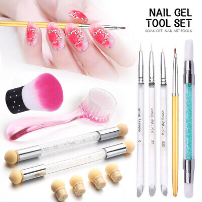 1/7X Set Nail Brush Dust Remover Powder Cleaning Manicure Nail Art Tool Acrylic