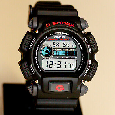 Casio DW9052-1V Mens G-Shock Chronograph Watch 200M WR Resin Black Sports New