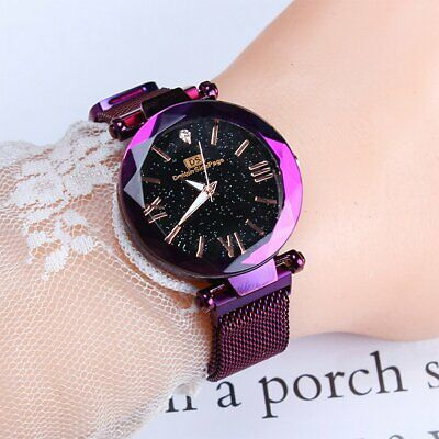 Starry Sky Watch Waterproof Magnet Strap Buckle Stainless Quartz WristWatch Gift