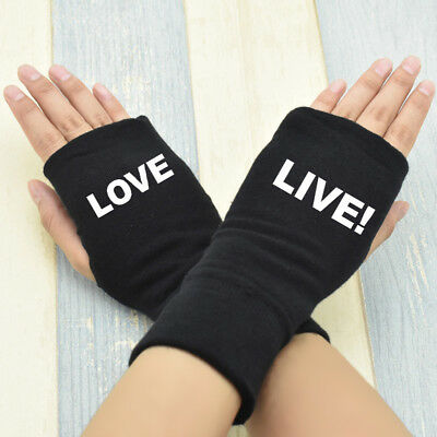 Anime Love Live Cotton Gloves Knitting Wrist Mitten Fingerless Cosplay Gifts