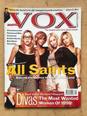 All Saints Vox #89 Magazine March 1998 All Saints Cover With More Inside + Simon