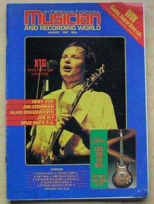 Xtc International Musician Magazine August 1981 Andy Partridge Cover With Featur