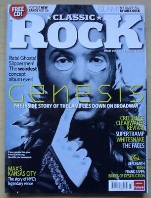 Genesis Classic Rock #89 Magazine February 2006 Peter Gabriel Cover With Feature