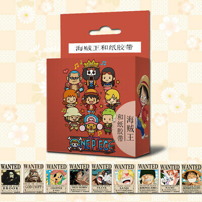 Anime One Piece Cosplay DIY Paper Maksing Washi Tape Stickers
