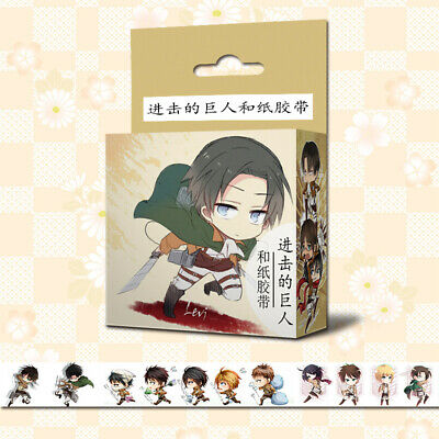 Attack on Titan Anime Cosplay DIY Paper Maksing Washi Tape Stickers