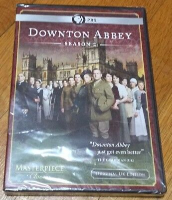 Downton Abbey: Season 2 (DVD, 2012, 3-Disc Set) Brand New Sealed