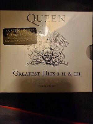 Queen Greatest Hits I, II, & III  Platinum Collection Box New Sealed US Shipper