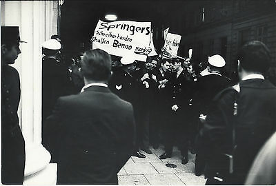 Manifestations Contre Axel Springer Hambourg 1967