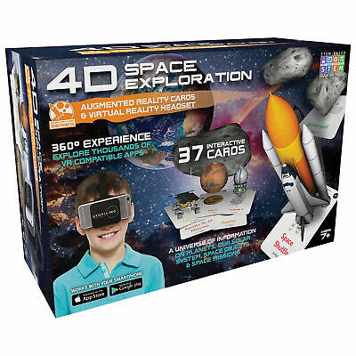 4D+ Utopia 360 Space Exploration Augmented Reality Cards & VR Headset Game NEW