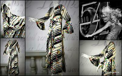 Dance like your at Studio 54 vintage 60's 70's maxi dress bell sleeves M runway