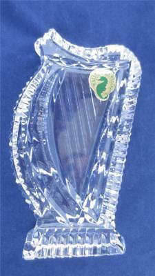 WATERFORD Crystal HARP Paperweight w/tag