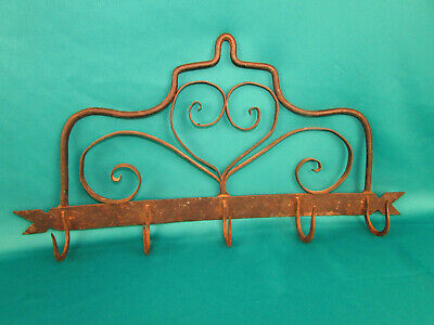 1700's Early American Colonial Wrought Iron Work Pot Pan Coat Hanger 18th Cent.
